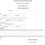 Mẫu đơn xin xác nhận quan hệ nhân thân để chứng minh tài chính